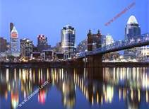The Cincinnati skyline.
