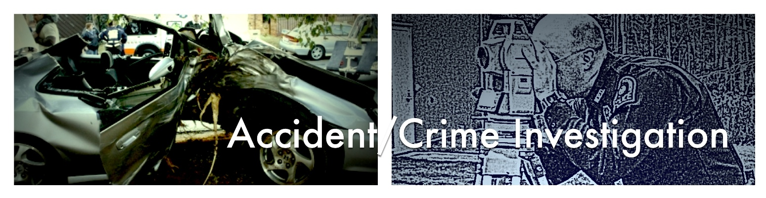 Use Carlson CSI Software for crash or crime scene investigation.