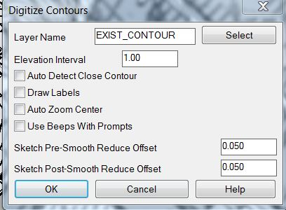 Exist Cont Settings