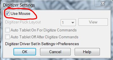 dig use mouse setting