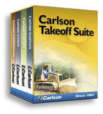 Carlson Takeoff Suite or Takeoff R7 for all your site estimating and data prep needs