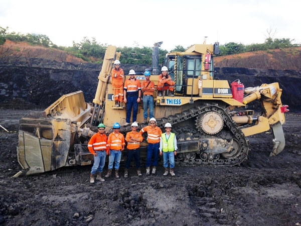 Mining crew in Southeast Asia