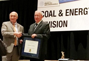 SME gives Bruce Carlson the Howard N. Eavenson Award.