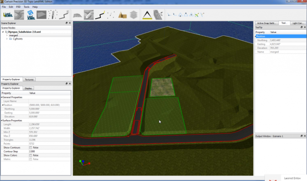 LandXML 2.0 comes with a free 3D viewer