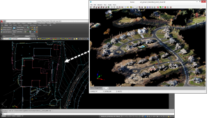 Complex cloud data to manageable CAD entities in Point Cloud 2018.