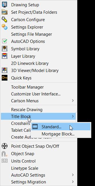 Carlson Software - Smart Title Blocks